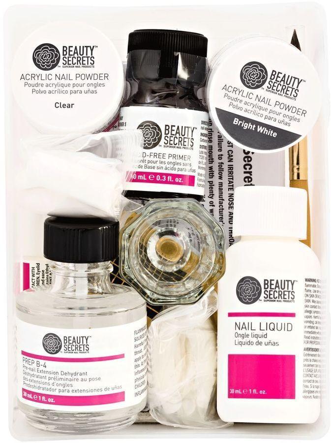Beauty Secrets 4 In 1 Acrylic Extension System Beautysecretsfromaroundtheworld Acrylic Nail Kit Nail Extensions Acrylic Nail Powder