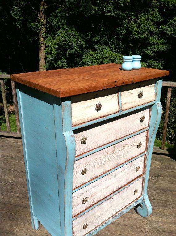 Rustic Oak Dresser/Beach Decor/Cottage Decor/ by TheSandShop, $275.00