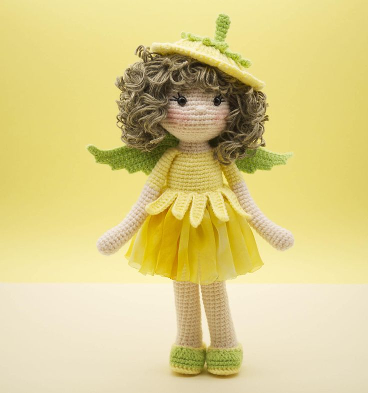 Amigurumi crochet DOLL Sweet Celandine flower fairy with