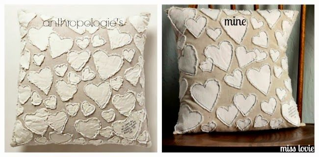 Miss Lovie: Anthro Knockoff Heart Collector Pillow