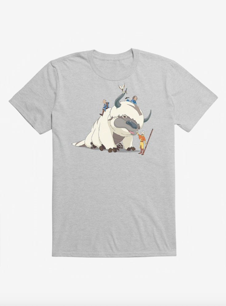 Avatar the last airbender appa and group tshirt avatar