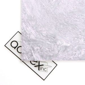Acriglas Pearlescent White Acrylic Sheet _ Reflected Light