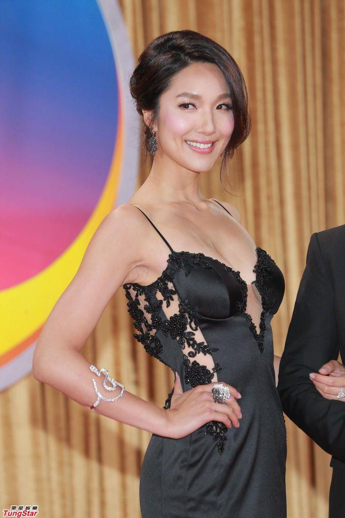 Ms Leanne Li wearing Galia Lahav - Saffron Evening Gown to the TVB prize presentation ceremony
