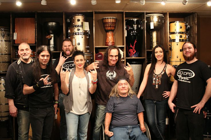 Vinny Appice Drum Master Class January 2014 with GoDpsMusic and Dean Zimmer, Kevin, Joe, Monica, Tania, Steve and Brendon #vinnyappice #master #class