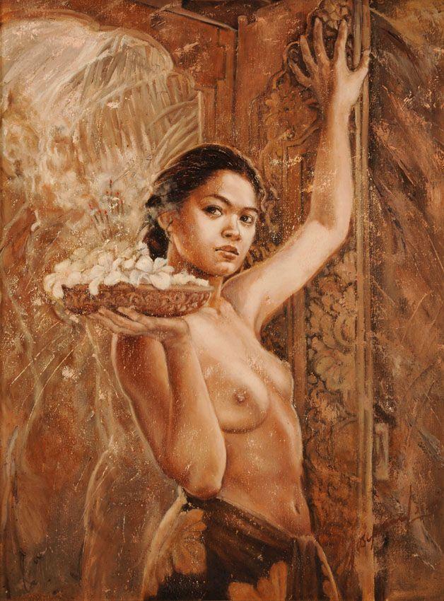Josephine Linggar (Jember 1943) - Offering Young Balinese Girl, 2000