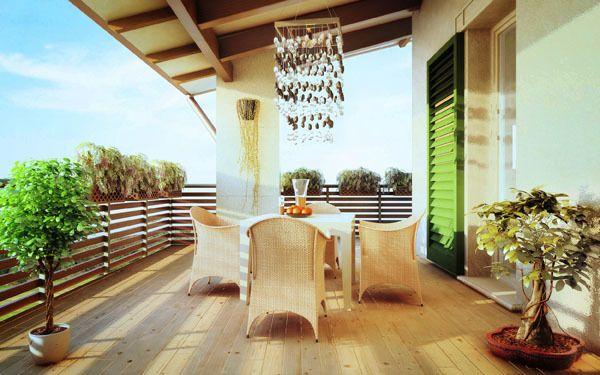 Mediterranean terrace by Roberto De Angelis, via Behance