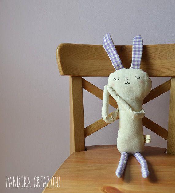 pupazzo coniglietto di stoffa di pandoracreazioni su Etsy