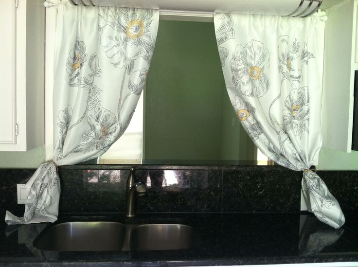 No sew curtains, shower curtain to kitchen curtains
