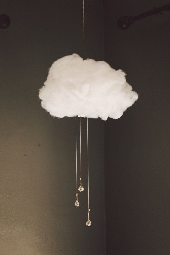 LED Storm Cloud Mobile by MoonsandJunesShoppe. It would go perfectly with the cloud rug I incorporated into my Glam design.  #fisherprice #pinparty @Shayla Smith