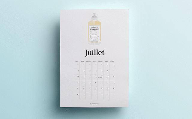 La Paillette - Blog Rennes - Claire Calendrier Juillet & Août 2017 parfum à imprimer free july august calendar