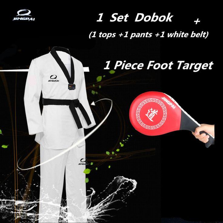Double Kick Pad Target Tae Kwon Do Karate Kickboxing Training Target And Tae Kwon Do Karate Uniform / Dobok WTF