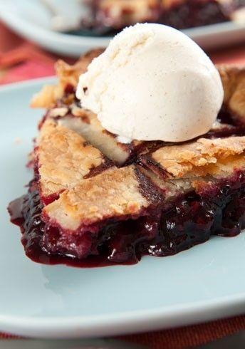 Boysenberry Pie: 3 cups Boysenberries; 1/2 Cup sugar; 3 T cornstarch; 2 T lemon juice; 1 T butter; pie crust.  **