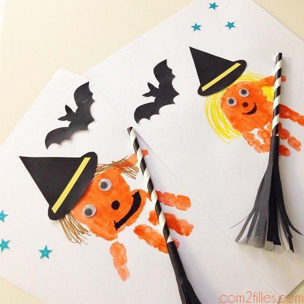 Envie de faire un atelier dédié au thème d'halloween avec vos enfants ? Découvrez le tuto pour reproduire des sorcières en relief rigolotes !
