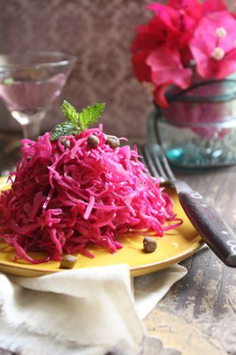 ケイパー入り紫キャベツのピクルス : カリフォルニア食堂- the rustic table-