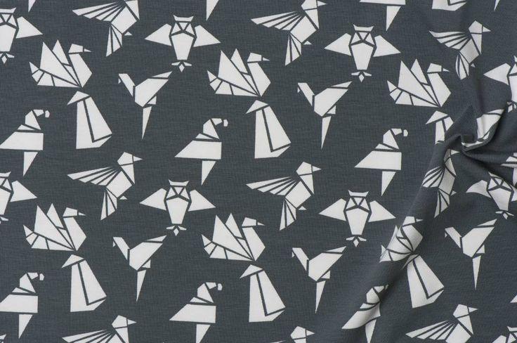 Hippe tricot Origami Birds bestellen! Uitgebreide Nooteboom textiles collectie 2017 online.<br /> Snelle levering · Weekdeals · Betaalbare stoffen · Inspiratie