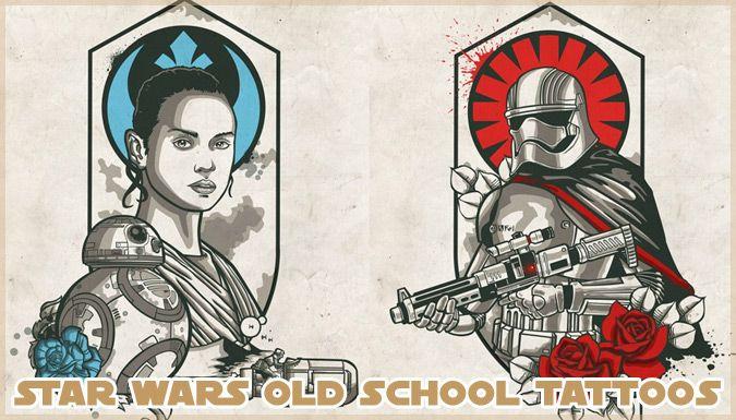 スター・ウォーズをテーマにしたOldSchoolスタイルのタトゥーデザイン! | パラリウム