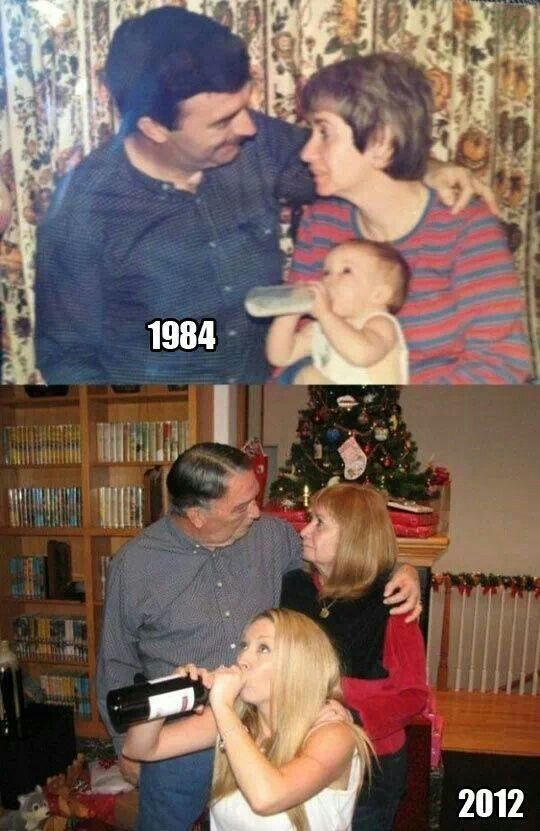 LOVE the photo recreations - I so want to do this - too funny
