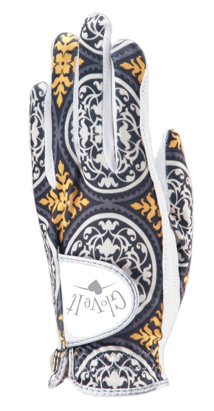 Ladies leather shooting gloves - Glove It Citron Scroll Ladies Golf Glove