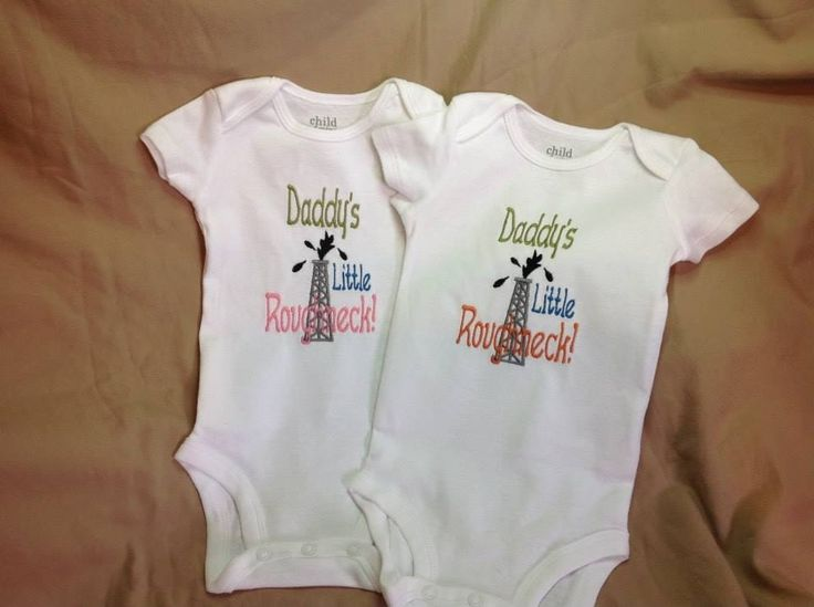 Daddy's little roughneck onesie, baby shirt, $20.00. Made by Tempting Threads Embroidery, check them out on Facebook... https://www.facebook.com/temptingthreadsembroidery