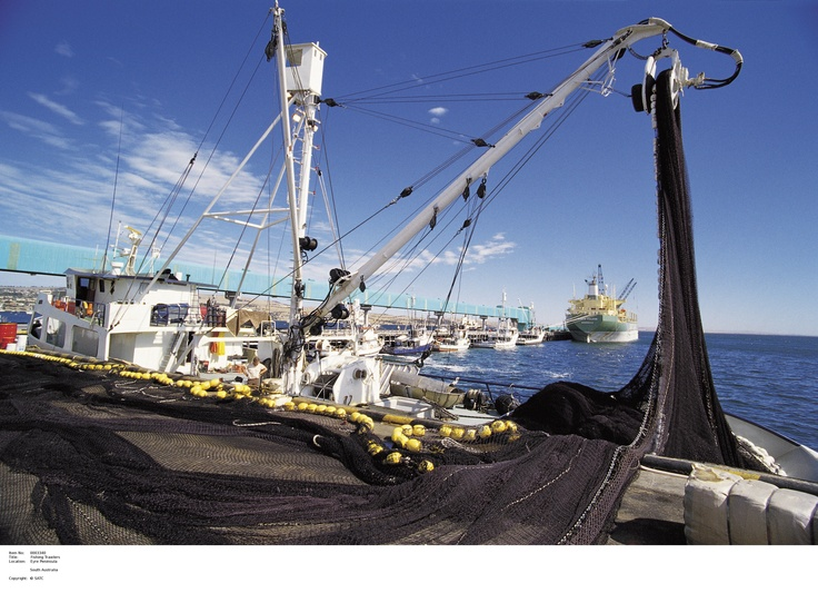 Torrens Island trawlers.    Image Source: SA Tourism Commission.