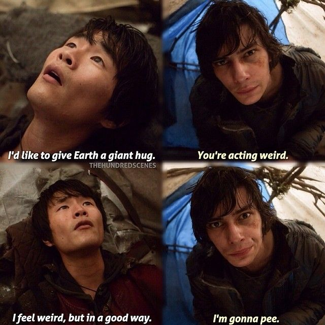 """S1 Ep8 """"Day Trip"""" - Monty and Jasper. <--- about sums up best friends conversations, caause that's what you get when you eat earth food"""