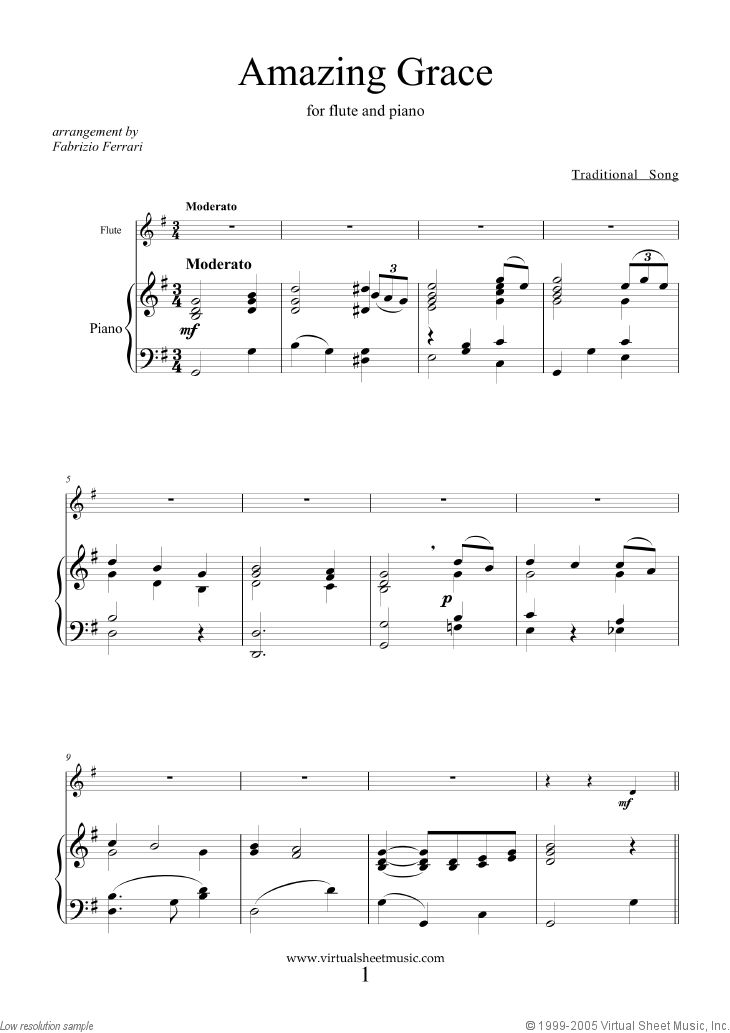how to play amazing grace on piano easy