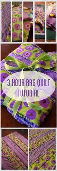 Rag Strip Quilt Tutorial Over 100 free quilting tutorials found here.