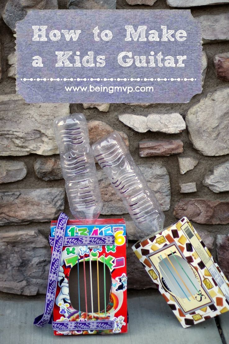 being MVP: Celebrate National Recycling Week with Annedroids + How to Make a Kids Guitar #Annedroids #AmazonPrime
