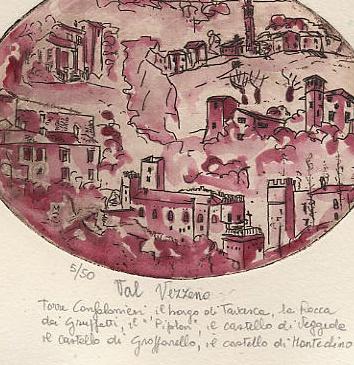 acquaforte dipinta con vino Gutturnio