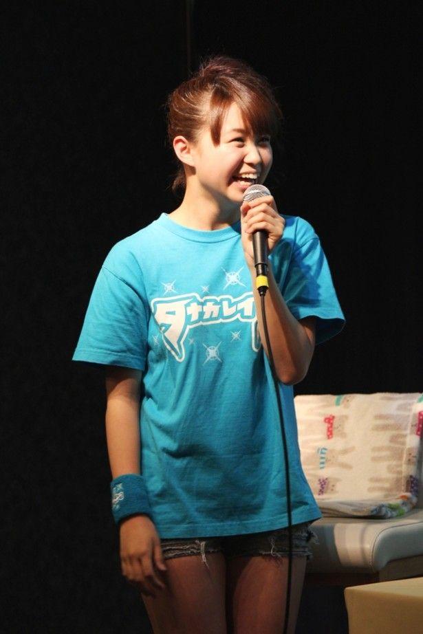イベント前日、田中にメールを送った高木は「れいなのこと、いっぱいアピールしてきてね」と言われたそう / 高木紗友希