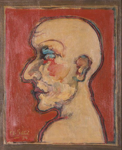 Cabeza, 1974.Oleo sobre lienzo 55 x 46 cm Martin Sáez