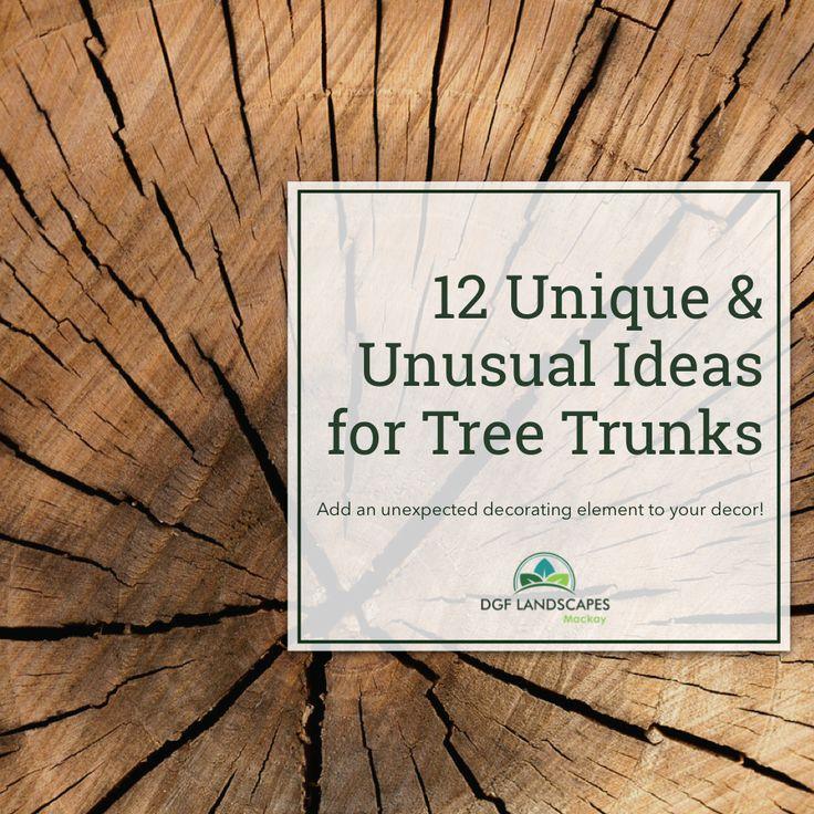 12 Unique & Unusual Ideas for Tree Trunks   DGF Landscapes Mackay
