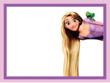 Blank Rapunzel / Tangled invite