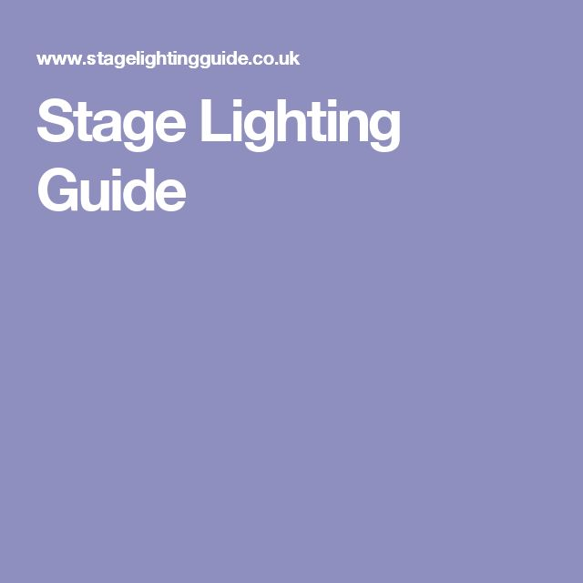 Stage Lighting Guide