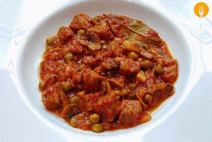 Receta para hacer Estofado de ternera y setas Esta receta está inspirada en el tradicional fricandó, plato muy típico en la cocina catalana, que se suele e