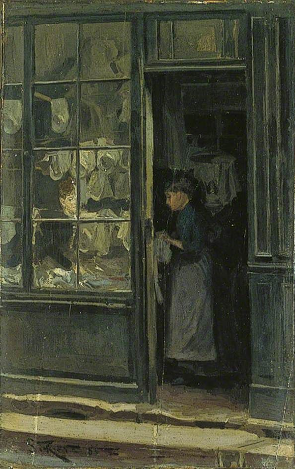 Walter Richard Sickert - The Laundry Shop - 1885