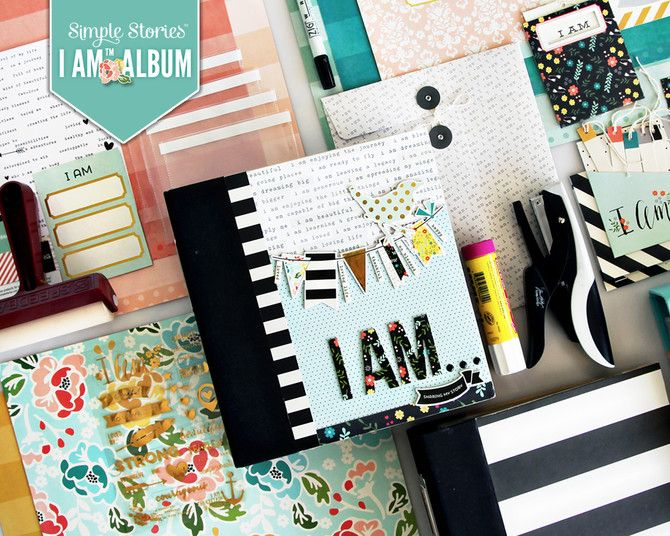Class: I Am Album with Jill Davis - Take the NEW and FREE I Am class with Jill Davis featuring the brand NEW Simple Stories I Am collection.