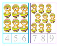Playing cards-Easter  (Open playing cards-Easter) Print and laminate. Give each child the same number of cards. Have them take turns hiding their cards within the daycare. When they have all hidden their cards, let the hunt begin! Children try to collect as many cards as possible.