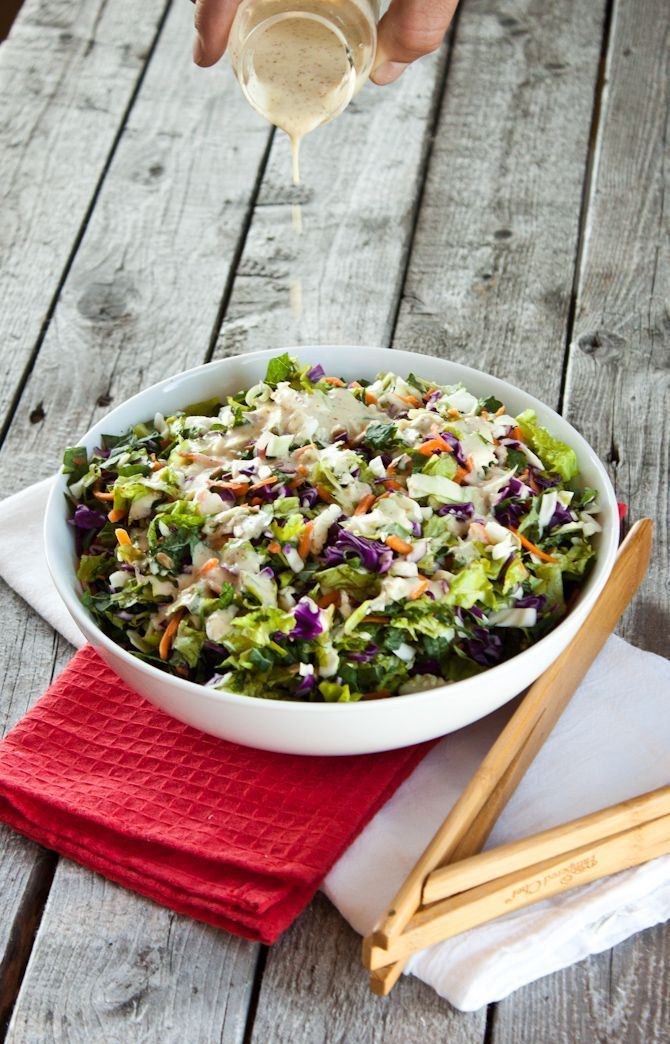 Sunflower Crunch Chopped Salad, I omitted the bacon, but if you like bacon you could at in it.