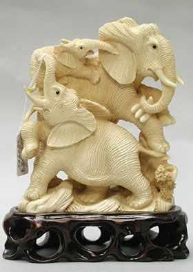 You know what surprises me about this pin? People pinning it are putting it on boards about how wonderful ivory is. Mammoth Ivory Carving, Elephant Family.  I find it disgustingly ironic that they murder elephants for their tusks, only to create sculptured tributes to elephants out of their body parts.
