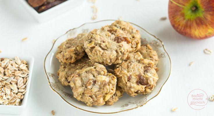 Fruchtige Clean Eating Cookies: Diese gesunden Kekse ohne Zucker, Ei, Butter und Milch schmecken nicht nur Babys und Kindern, sondern auch Erwachsenen!