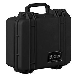 "Pelican Protector Watertight Equipment Case - 13.4"" x 11.6"" x 6"" - Black"