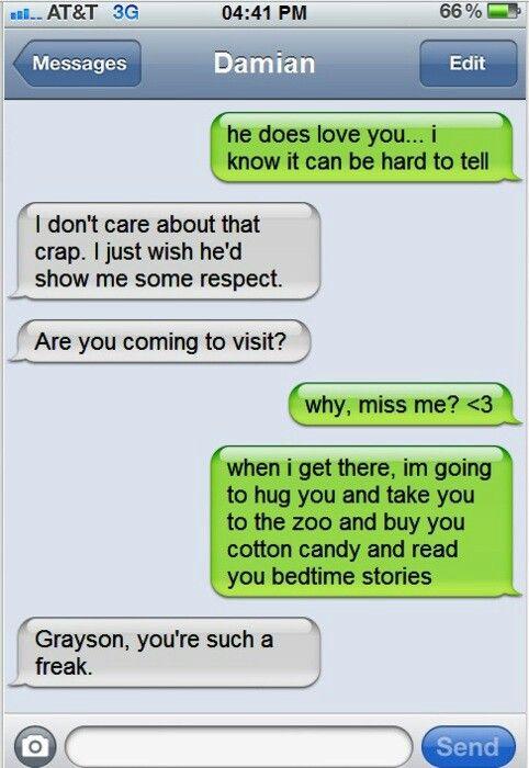 Batman Family Dick and Damians texts...