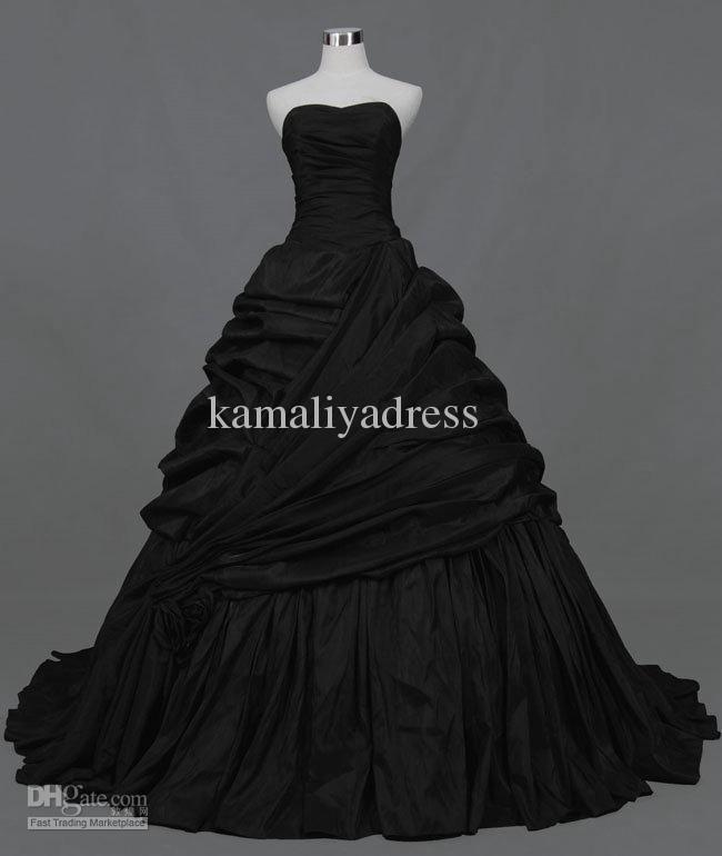 Gothic Wedding Dresses 2016 A Line Strapless Black Taffeta: 88 Best Images About Wedding Ideas :) On Pinterest