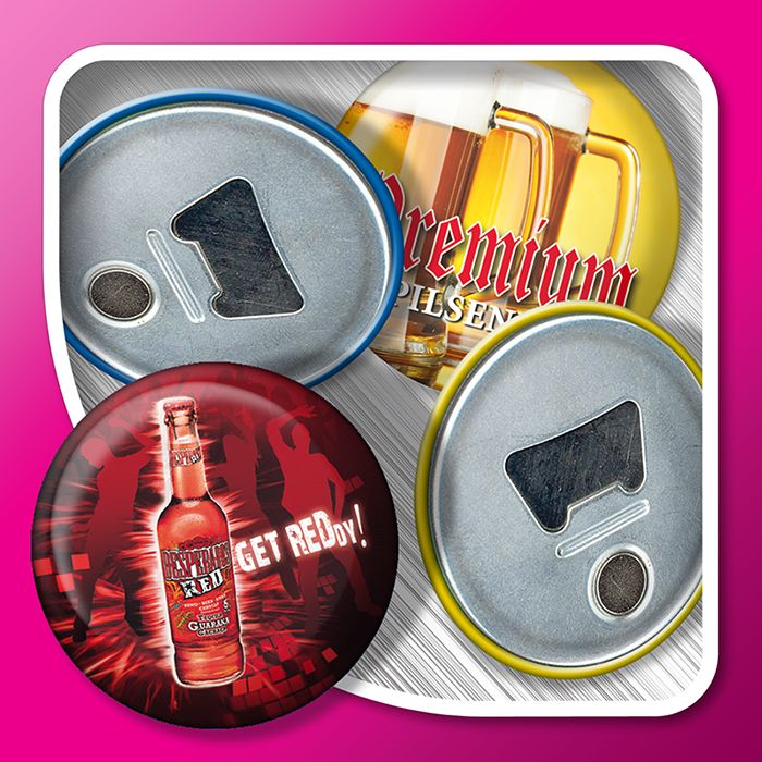 Magnetic bottle opener (3D effect)