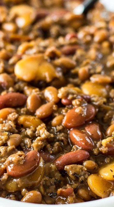 Baked Three Bean Casserole - A Boston Favorite!