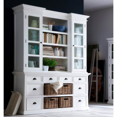 Nova Solo Halifax Library Hutch with Basket Set - BCA600
