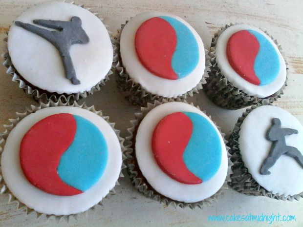 Taekwondo Cupcakes