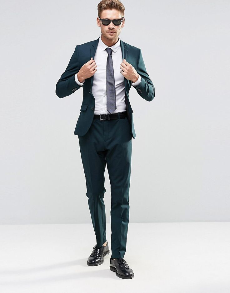 Image 1 - Selected Homme - Costume slim avec stretch - Vert bouteille