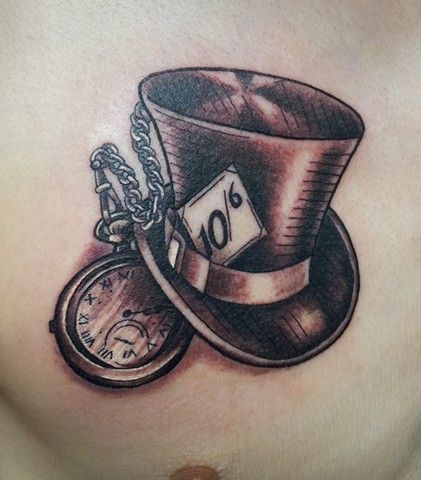 white rabbit hat tattoo